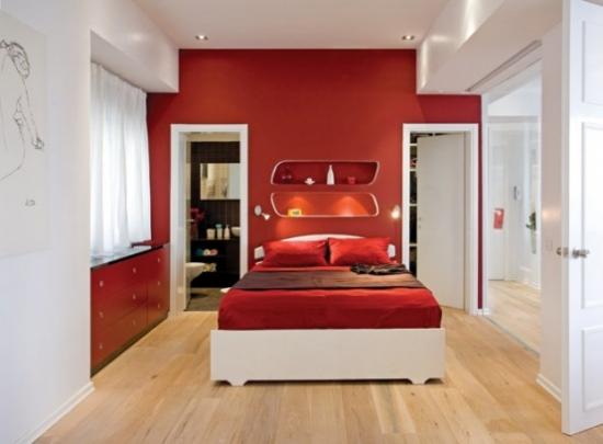 Dormitor-modern-alb-cu-rosu